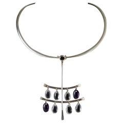"Necklace ""Drops"" Designed by Torun Bülow-Hübe for Georg Jensen, Denmark, 1960s"