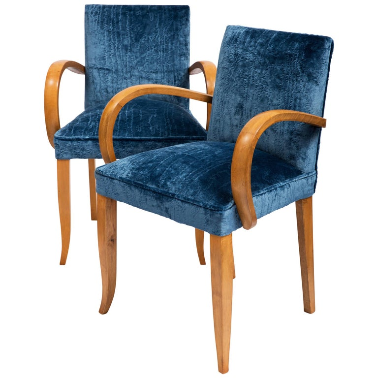 Pair of French Art Deco 1930s Bridge Chairs For Sale