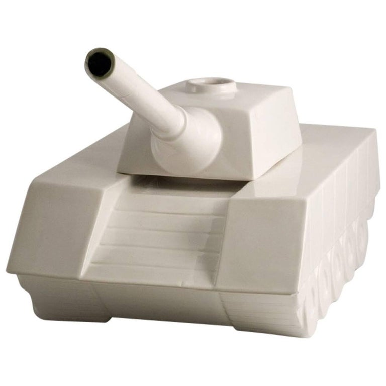 Andrea Visconti Love Tank Ceramic Sculpture Superego Editions, Italy For Sale