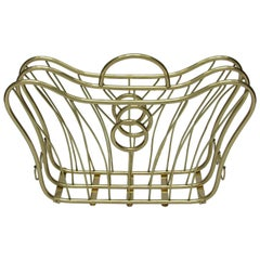 Italian 1950s Brass Magazine Rack