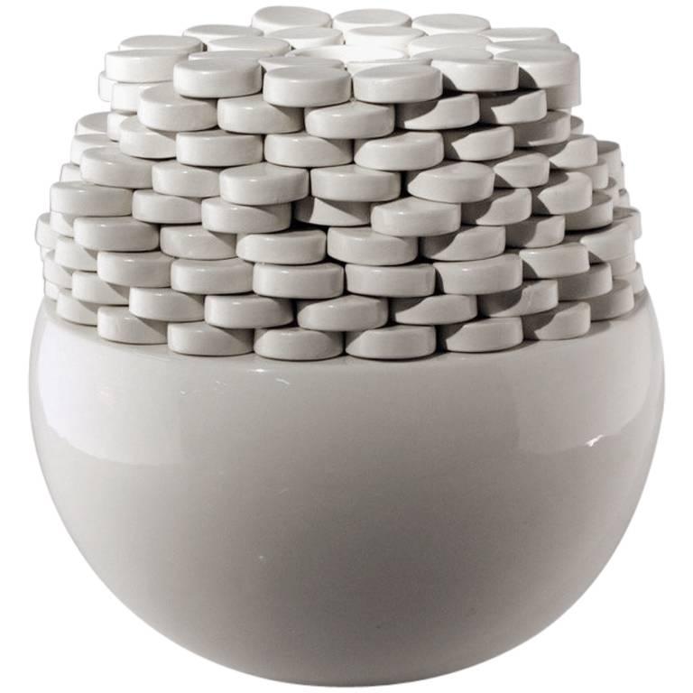 "Martine Bedin, ""Ostia"" Ceramic Sculpture, Superego Editions, Italy"