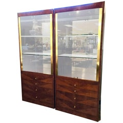Pair of Henredon Display Cabinets Vitrines