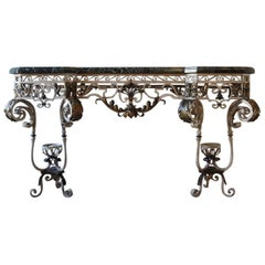Spanish 1940s Wrought-Iron Console Table