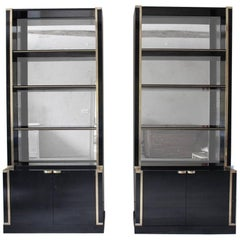 Good Pair of French 1970s Ebonized Bookcases