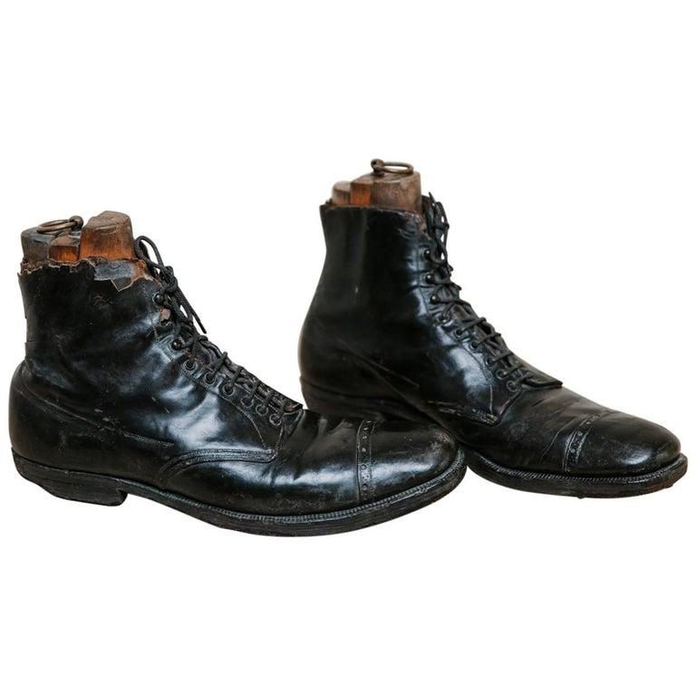 Antique Leather Clown Shoes