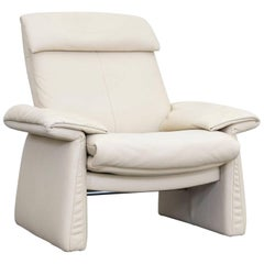 Erpo Lugano Designer Armchair Leather Crème Function One-Seat Couch Modern