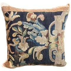 17th Century Tapestry Fragment Pillow