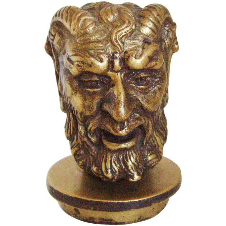 French Art Deco Bronze Secret Erotic Mephistopheles Car Mascot/Hood Ornament For Sale
