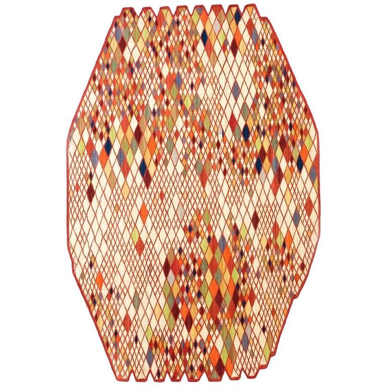 Losanges One Hand-Loomed Wool Rug by Ronan & Erwan Bouroullec Medium