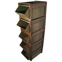 Mid-century Heavy Duty Industrial Stackable Hardware Store Storage Bins