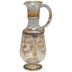 Lobmeyr Vienna Signed Art Nouveau Jug Enamel Gold Made after 1905