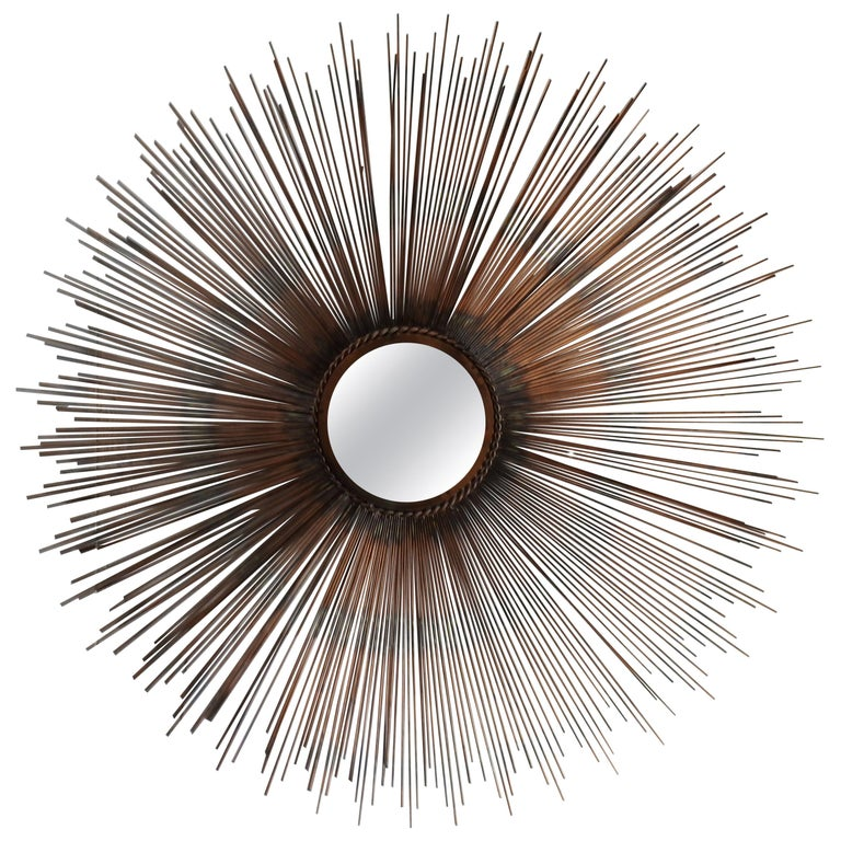 Sunburst Mirror Mid-Century Modern For Sale at 1stdibs