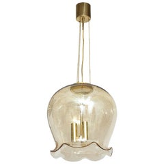 Limburg Etched Champagne Glass Pendant