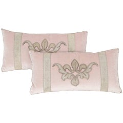 Pair of Blush Pink Velvet Pillows
