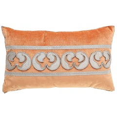 Velvet Pillow with Antique Metallic Accents