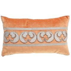 Velvet Pillow with Antique Metallic Accents