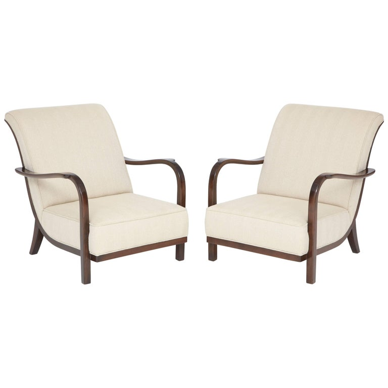 Pair of Italian Armchairs Attributed to Paolo Buffa
