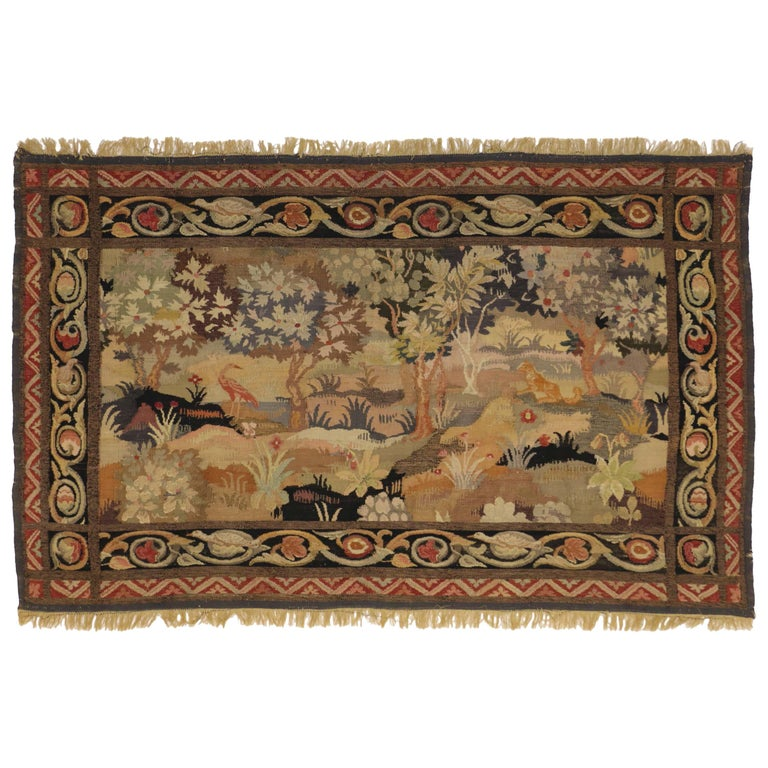 Fresh Late 19th Century Antique Tapestry with Old World Charm and French  LP66