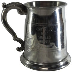 Sheffield England Classic Engraved Pewter Tankard