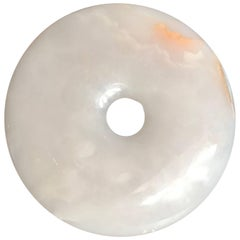 Handcrafted Translucent Heavenly White Stone Bi Perfect for Gardens