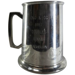 Engraved Genuine Pewter Tankard from Bolivia