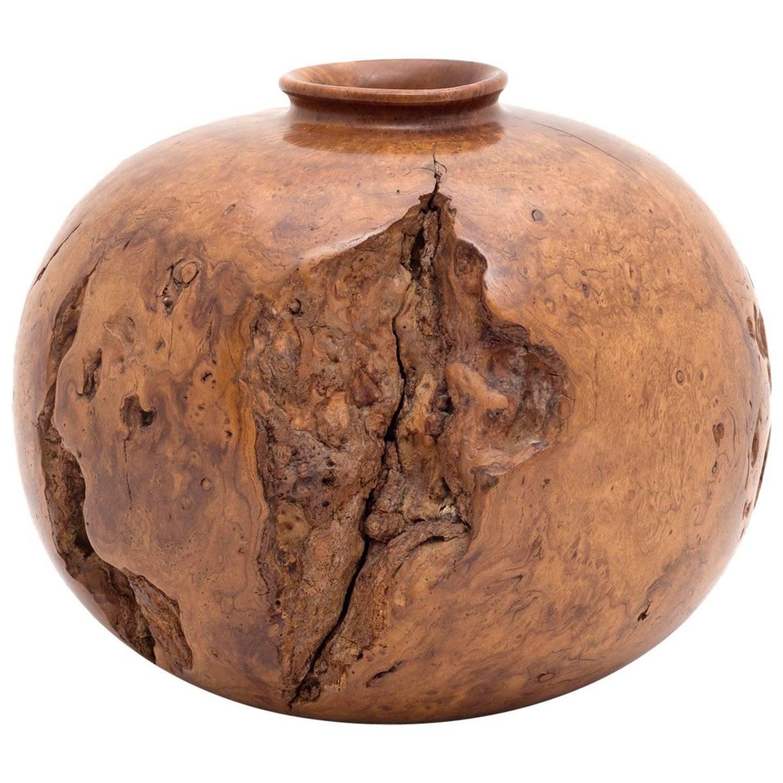Sculptural turned wood vases by melvin lindquist usa 1979 for melvin lindquist turned wild cherry burl wood vase usa 1973 reviewsmspy