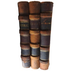 Antique Leather Bound Ledgers of Walker Ice Cream Co.
