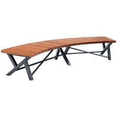 Opus Bench Minimalist Design in Cherry, Black Walnut, White Oak, Mahogany