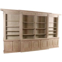 Late 18th Century English Breakfront Bookcase