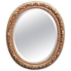 19th Century Louis XV-Style Carved and Gilt Oval Mirror