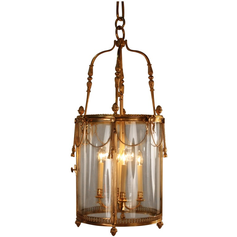 French 19th Century Large Dore Bronze Lantern