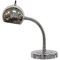 Little Adjustable Chromed Desk Lamp