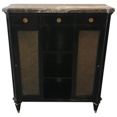 Glamorous Signed Jansen French Ebonized Cabinet