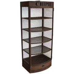 "Vintage French ""Chipie"" Metal Display Case"