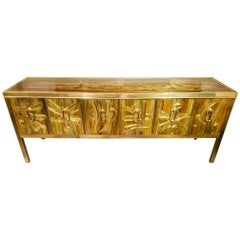 Mastercraft Etched and Enameled Bronze Sideboard or Credenza by Bernhard Rohne