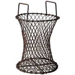 Sculptural Iron Waste Basket