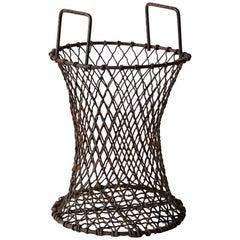 Sculptural Iron Waste Basket