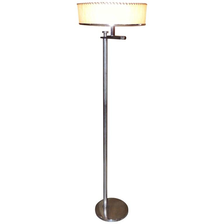 Convertible Midcentury Art Deco Floor Lamp by Kurt Versen