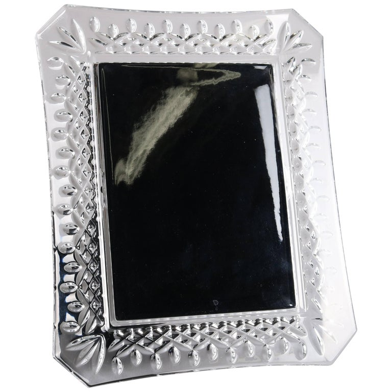 irish waterford cut lead crystal picture frame for sale at 1stdibs. Black Bedroom Furniture Sets. Home Design Ideas