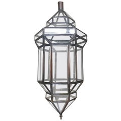 """""""Jaime"""" Small Clear Lantern Moroccan Style Haskell"""