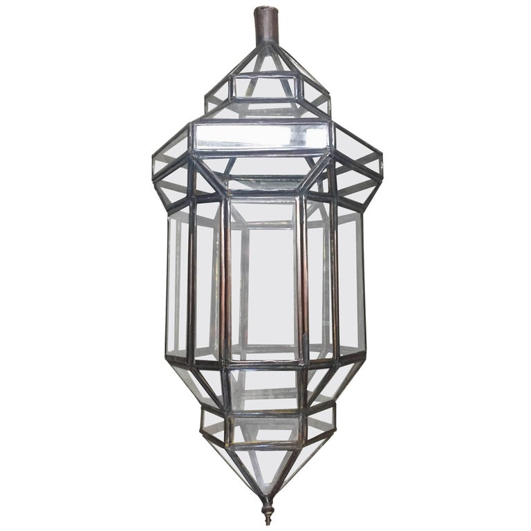 """""""Jaime"""" Small Clear Lantern Moroccan Style Haskell For Sale"""