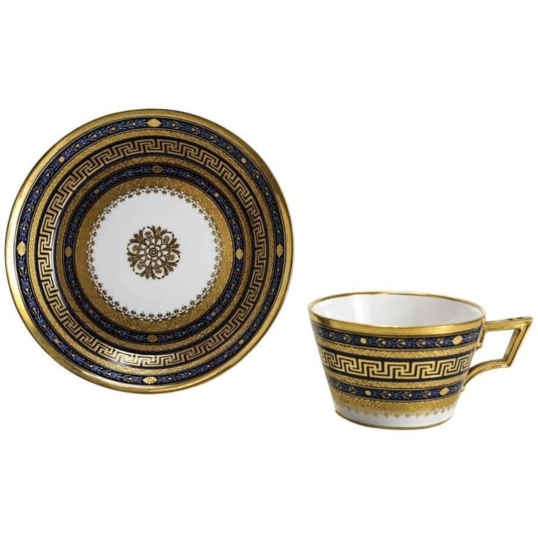 18th Century Vienna Porcelain Cup and Saucer For Sale