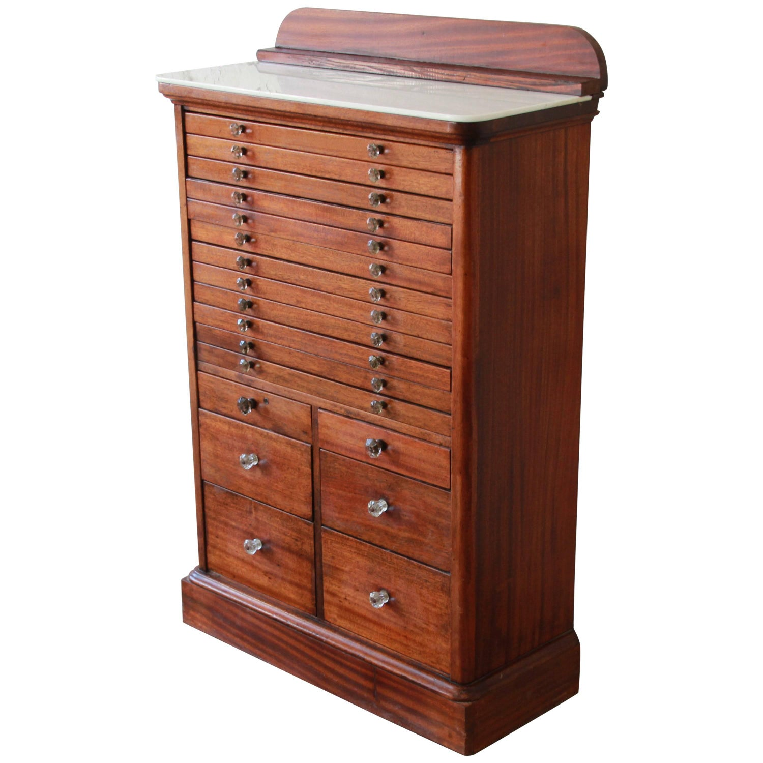 Antique Mahogany Dental Cabinet - Antique And Vintage Apothecary Cabinets - 202 For Sale At 1stdibs