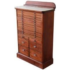 Antique Mahogany Dental Cabinet