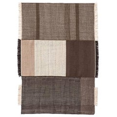 Tres Collection Large Chocolate Hand-Loomed Wool & Felt Rug by Nani Marquina