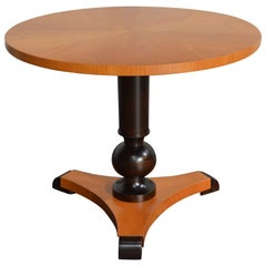Swedish Art Deco Moderne Round Pedestal End or Side Table