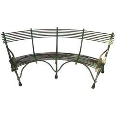 Vintage French Arras Garden Bench