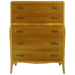 Art Deco Style Tall Chest of Drawers by Rway Northern Furniture Co. of Sheboygan
