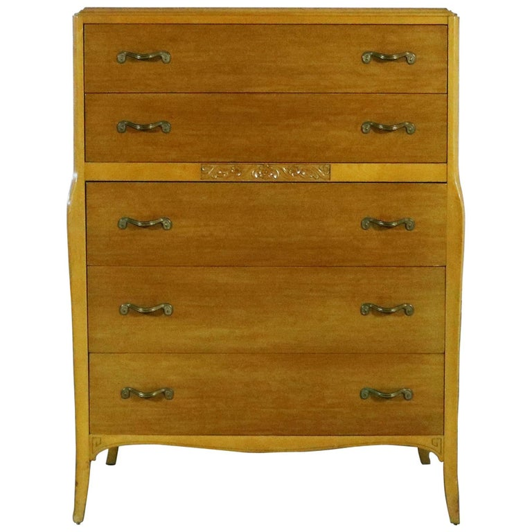 Art Deco Style Tall Chest Of Drawers By Rway Northern Furniture Co Sheboygan For