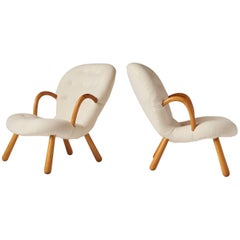 "Pair of ""Clam"" Chairs by Philip Arctander"
